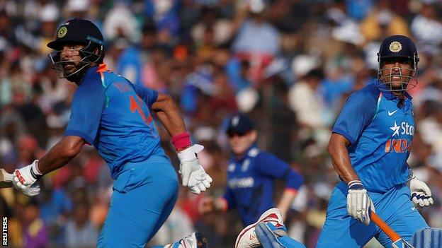 India v England: Yuvraj Singh and MS Dhoni seal series in Cuttack
