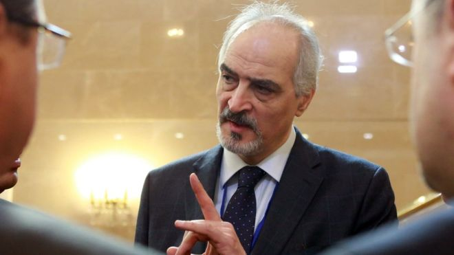 Syria conflict: War of words as peace talks open in Astana