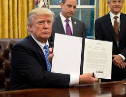 Trump executive order pulls out of TPP trade deal