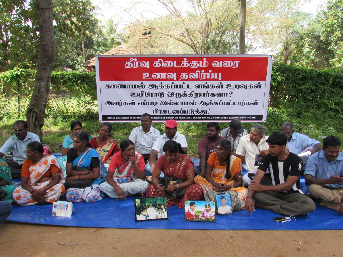 Vavuniya relatives of Missing persons join the struggle