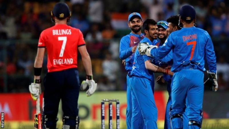 India v England: Yuzvendra Chahal and MS Dhoni seal T20 series