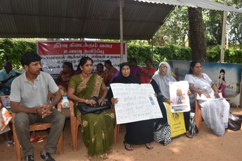Sinhala and Muslim people support the struggle in Vavuniya for the missing persons