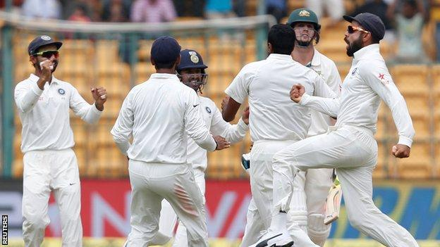 India v Australia: Ravichandran Ashwin leads home side to dramatic win to level Test series