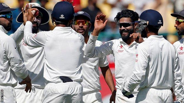 India v Australia: Jadeja puts hosts close to Test series victory