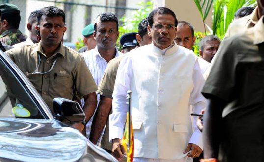 President Maithri in Jaffna