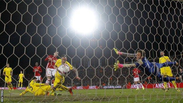 Manchester United were held to a draw by FC Rostov in the first leg of their Europa League last-16 tie in Russia