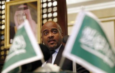 Major General Ahmed Al Asiri, spokesman for the Arab Coalition attends a press briefing at the Embassy of Saudi Arabia in London, Britain November 3, 2016. REUTERS/Stefan Wermuth