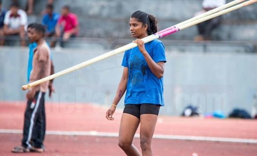 Record breaking Pole Vaulter of the North,  Anitha to Pole Vault in Thailand