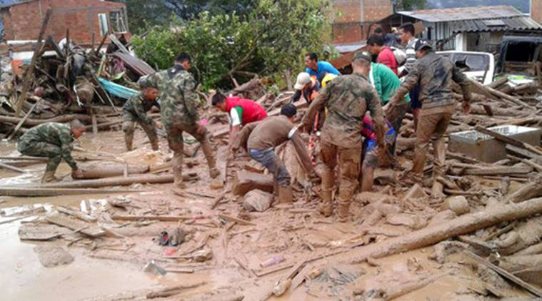 Survivors sought after Colombia mudslide kills 262