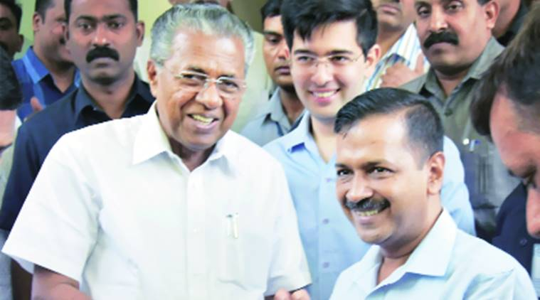 Kejriwal meets Pinarayi, discusses non-Congress alliance to take on BJP