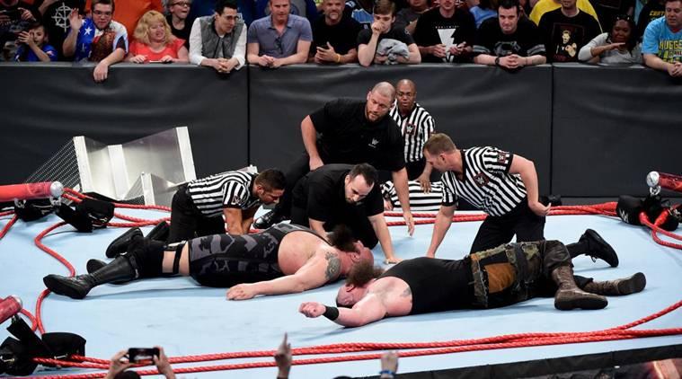 Big Show, Braun Strowman break ring in destructive match
