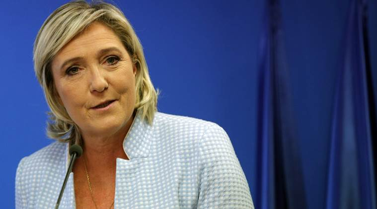Man arrested for alleged attacks on French presidential candidate Marine Le Pen's website