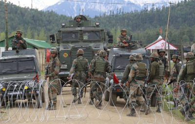 Clashes in Kupwara areas after Fidayeen attack on army camp.Three army soldiers, including a captain, one civilian and two militants were killed in the Fidayeen attack at an army camp in Panzgam. Five soldiers were also wounded in the pre-dawn attack.Express Photo By Shuaib Masoodi 27-04-2017