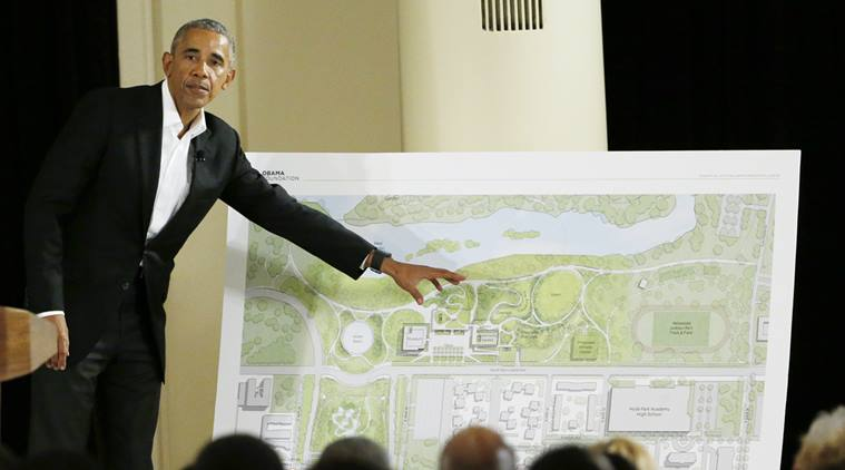 Barack Obama unveils presidential library designs in Chicago
