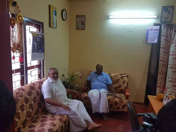 Sudden meeting between Wigneswaran and Mawai Senathyrasa