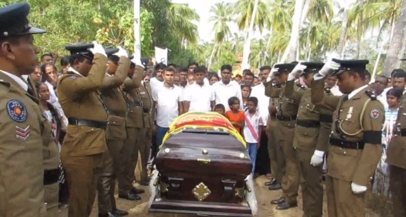 Remains of the Body guard of Justice Ilancheliyan, interred with full state Honours