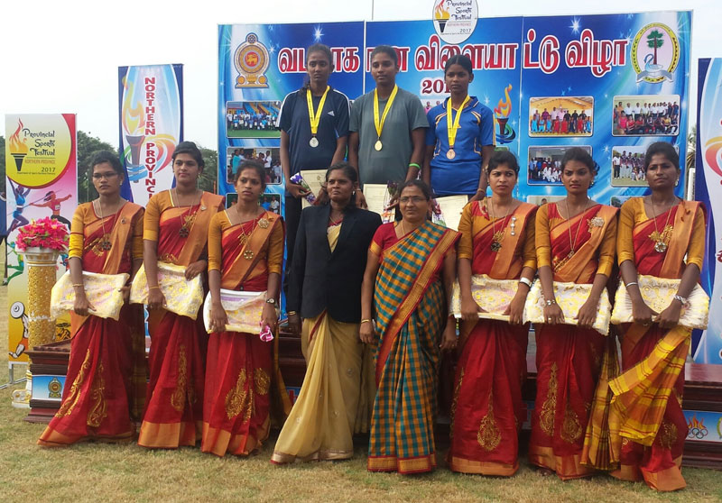 Northern Schools sports meet – Nainatheevu Sri Ganesh tastes first Gold, Thuyalini wins colours certificate