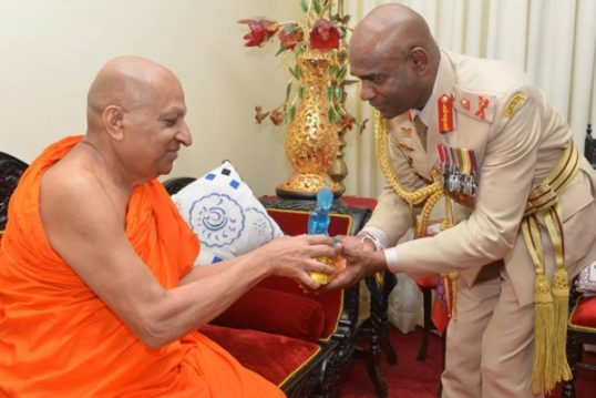 The Mahanayake of the Asgriya Chapter will Visit the North to study the current situation there, says the Army commander