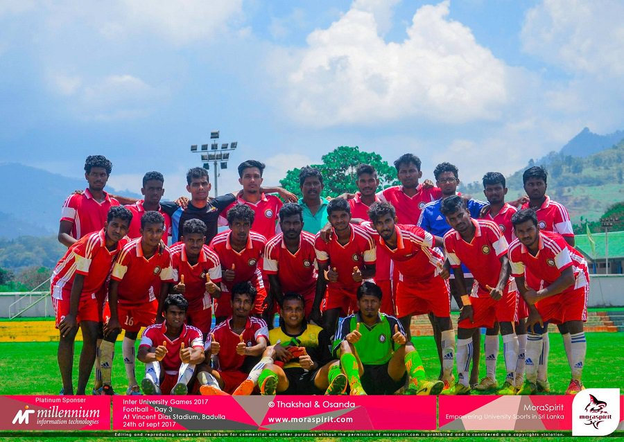 University of Jaffna clinches the Inter- University Foot ball Championship for the 13th time