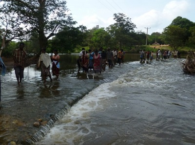 Request to Protect Agricultural Lands building  saline- water stopping dam, at Mandaikallaru