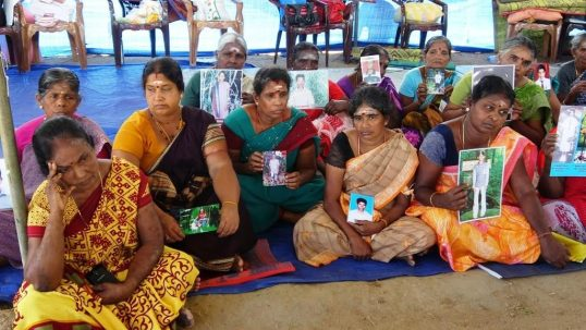 New crisis to struggle of relatives of Missing persons, Temple Administration asks them to leave