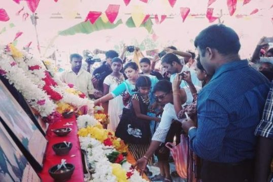 Commemoration of Manthuvil Massacre yesterday
