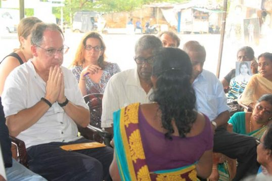 Special Representative of UN for Transitional Justice visits Mulliwaikkal area