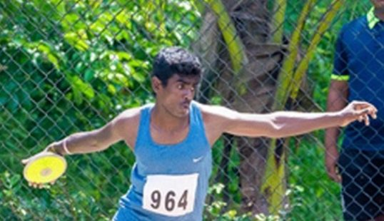 National Level Discuss throw – Mithunraj of Heartley, win a Gold establishing a new record