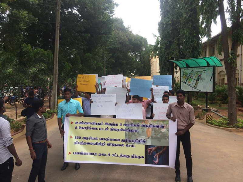 Students mass for TPPs – Rally yesterday in Jaffna