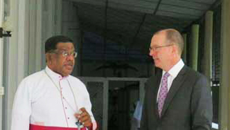Pressure of Canada needed for GOSL to take significant Action on missing persons: says Bishop of Jaffna to Canadian Envoy