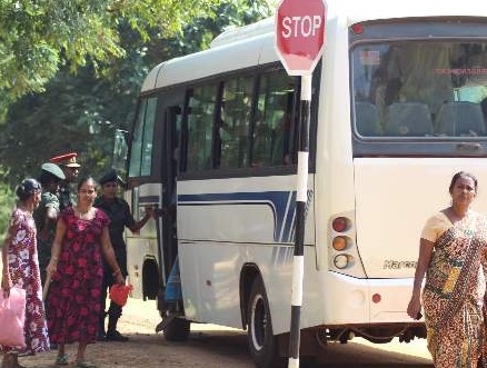 People taken by Army in bus to see their lands at Kepapulavu