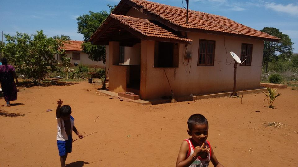People abandon their houses at 72- house scheme  at Kanesapuram, Mannar, for want of basic facilities 3
