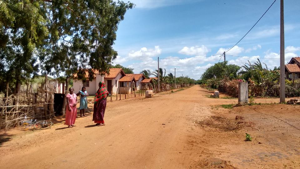 People abandon their houses at 72- house scheme  at Kanesapuram, Mannar, for want of basic facilities