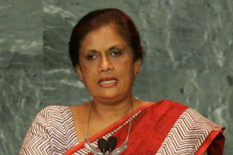 Tamil people demanding Tamil Eelam is justifiable: says Chandrika Bandaranayake
