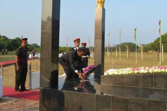 Homage paid at Palaly for Indian Soldiers killed in confrontations with LTTE in Sri Lanka