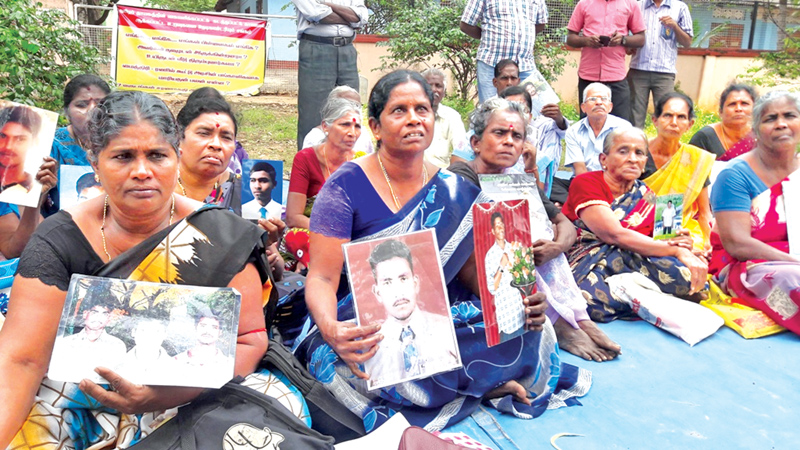 Those who lurched us into roads are happily enjoying Thai Pongal, says Relatives of Missing