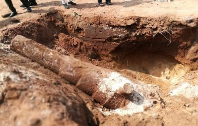 Ancient Artillery piece recovered near Trincomalee Hospital 2