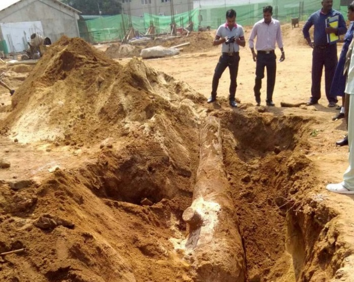 Ancient Artillery piece recovered near Trincomalee Hospital