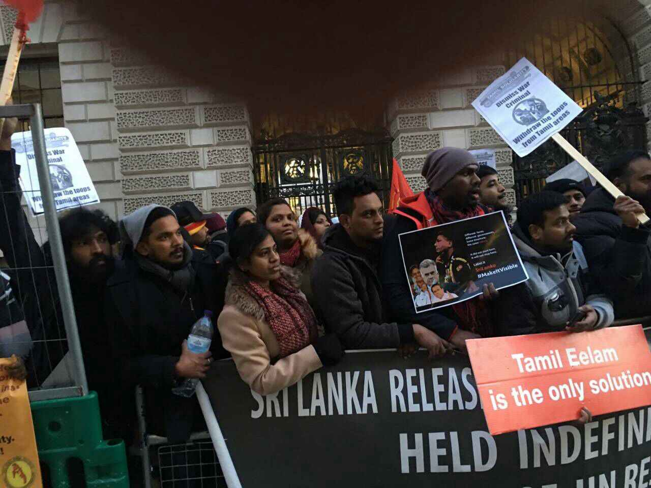 Thousands of Tamils demonstrate in London for expulsion of Sri Lankan Brigadier