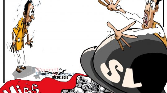 Tamil Diplomat cartoon