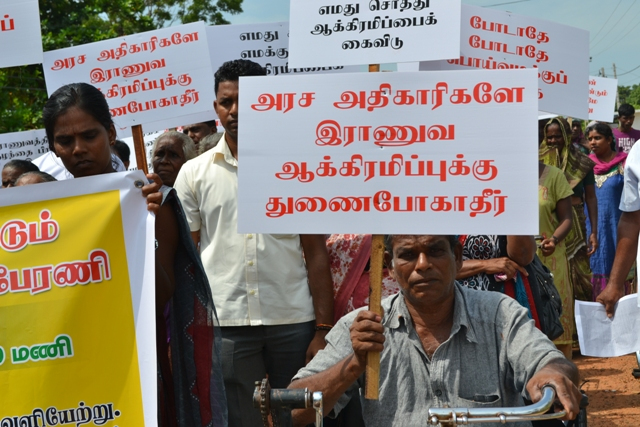 Strong opposition to give land to the Army