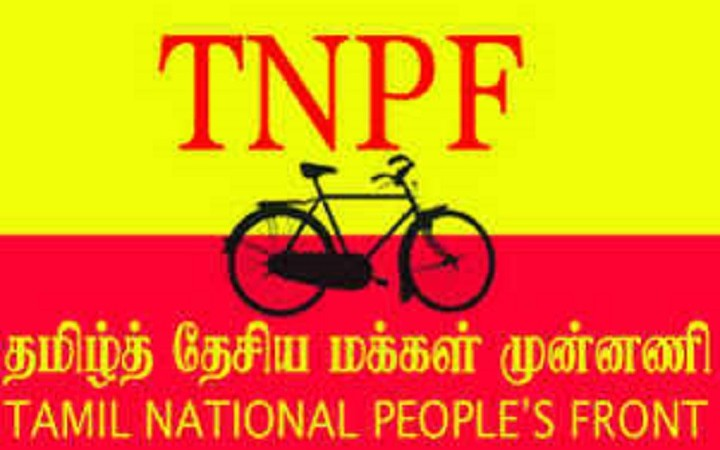 The Tamil National People's Front's elected members sworn in yesterday