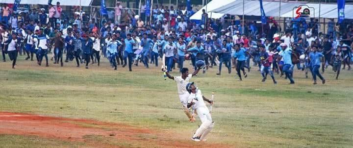"Jaffna Central wins the 'Thrilling to the last'  "" 112th Battle of the North"""