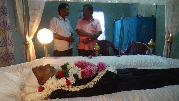 The funeral of TPP, Thevakan yesterday