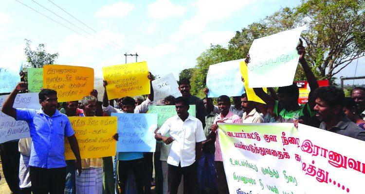 People demonstrate against the Army at Udayarkaddu and Kepapulau