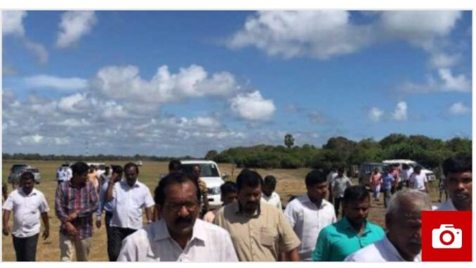 NPC Members join to hold protest Rally in Mulaitheevu, condemning outrages Sinhala Colonization