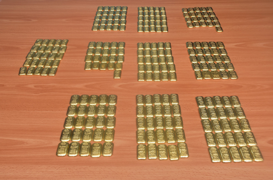 160 Million worth of Gold biscuits captured in Mannar seas while being smuggled to India