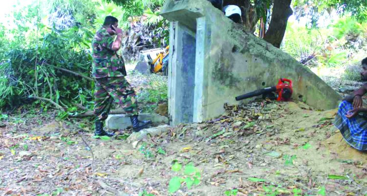 Underground Bunker supposed to be used by LTTE discovered while clearing land