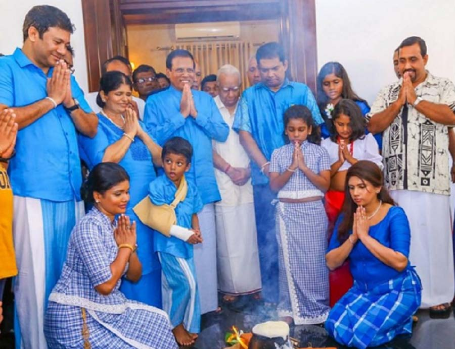Maithri promise Sampanthan to fulfill election promises During New Year Celebrations
