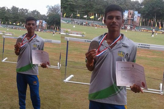 Vavuniya athlete wins a Bronze in the South Asian Track & Field Meet
